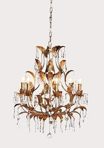 Crystal gold leaf chandelier 33