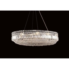 Crystal oval chandelier