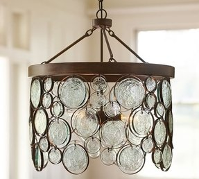 Emery recycled glass chandelier