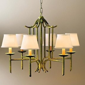 Bamboo chandelier foter faux bamboo pagoda chandelier 18 aloadofball Images