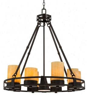 Faux candle chandelier 22