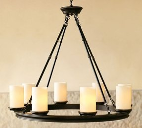 Faux candle chandelier 37