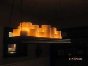 Faux candle chandelier 39