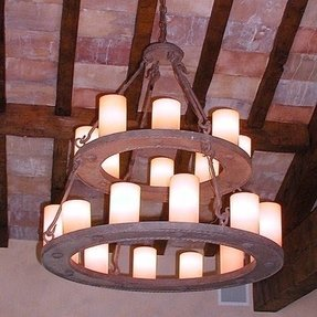 Faux candle chandelier