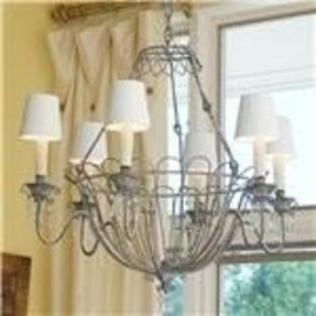 French wire chandelier 1
