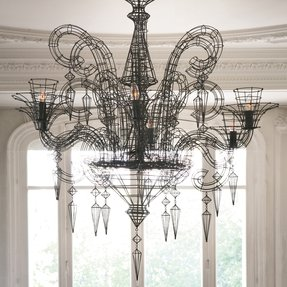 French wire chandelier foter french wire chandelier 2 aloadofball Image collections