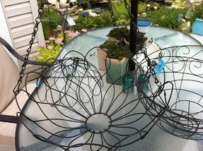 How to make wire hanging baskets