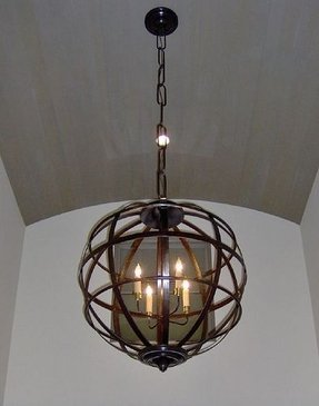 Wrought iron candle chandelier foter iron chandelier with candles aloadofball Image collections