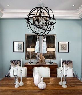 Sphere chandelier foter iron sphere chandelier aloadofball Image collections