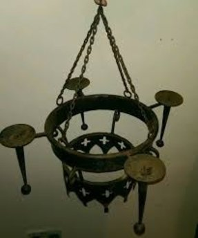 Wrought iron candle chandelier foter large candle chandelier antique candle chandelier aloadofball Gallery
