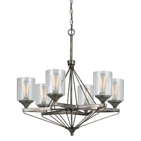 Seeded glass chandelier shade foter lights cresco metal chandelier with bubbled glass shade shown in aloadofball Choice Image