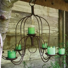 Wrought iron candle chandelier foter outdoor candle chandeliers wrought iron aloadofball Choice Image