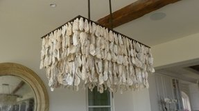 Oyster shell chandelier 30