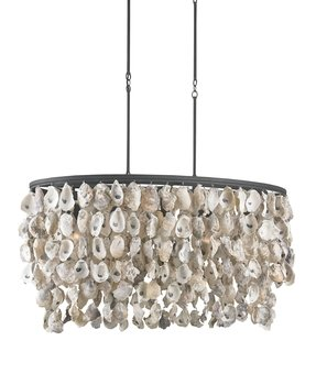 Oyster shell chandelier 31