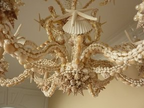 Oyster shell chandelier foter oyster shell chandelier 34 aloadofball Image collections