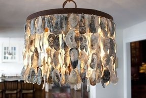 Oyster shell chandelier foter oyster shell chandelier 35 mozeypictures Images