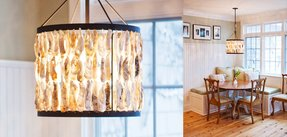 Oyster shell chandelier 37