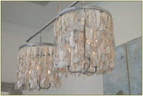 Oyster shell chandelier 38
