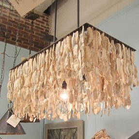 Oyster shell lighting