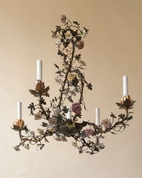 Tole Painted Chandelier Foter