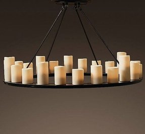 Pillar candle chandelier 14