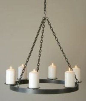 Pillar candle chandelier 18