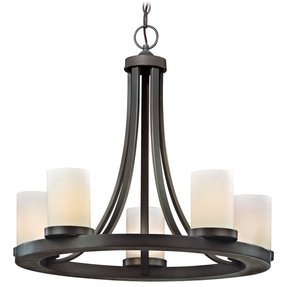 Pillar candle chandelier round 3