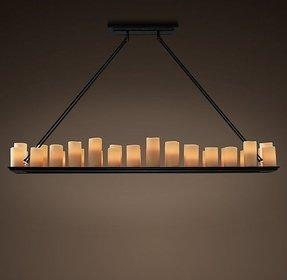 Perfect pillar candle rectangular chandelier frieze fantastic diy rectangular candle chandelier foter aloadofball Choice Image