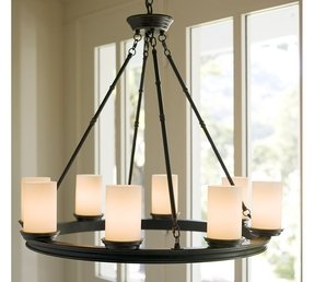 Pillar candle round chandelier 2