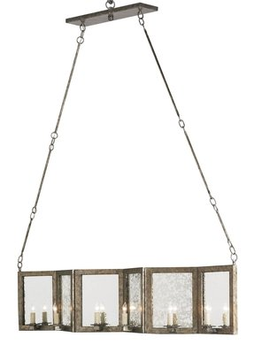 Rectangular candle chandelier 3