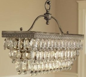 Rectangular candle chandelier 8
