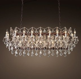 Rectangular chandelier 15