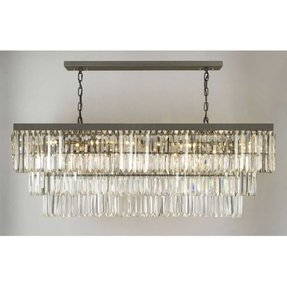 Rectangular iron chandelier