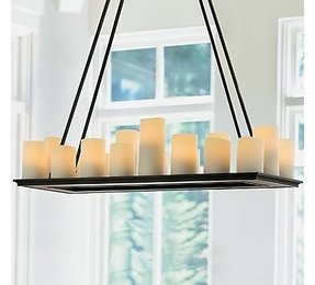 Rectangular pillar candle chandelier 2