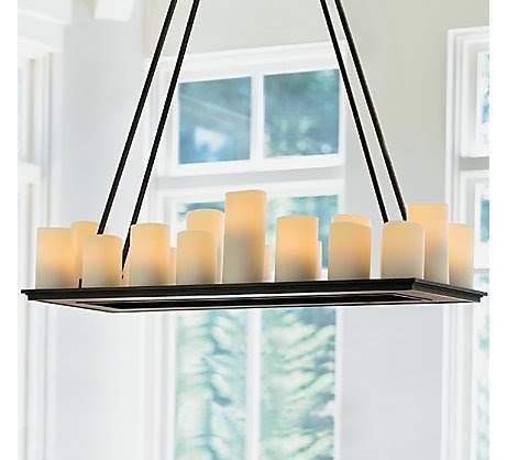 Rectangular Pillar Candle Chandelier 2
