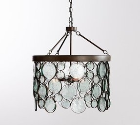 Recycled glass chandelier 36