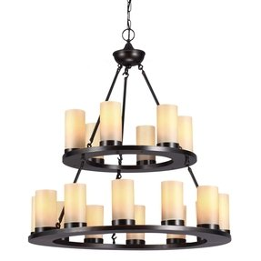 Round candle chandelier 4