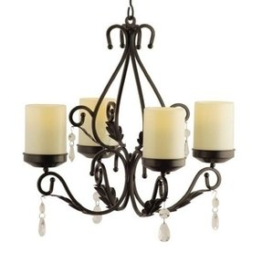 Round Pillar Candle Chandelier