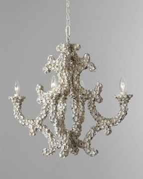 Seashell chandelier