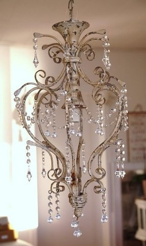 Shabby chic bedroom chandelier