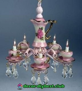 Shabby chic candle chandelier 19