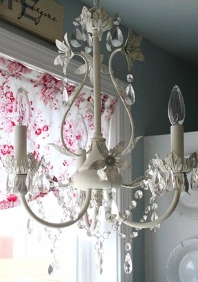 Shabby chic candle chandelier foter shabby chic candle chandelier 7 aloadofball Images