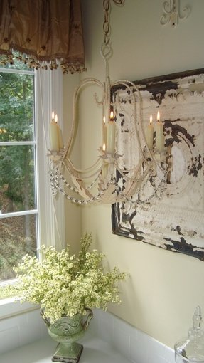 Shabby chic candle chandelier 9