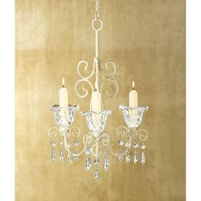 Shabby chic candle chandelier