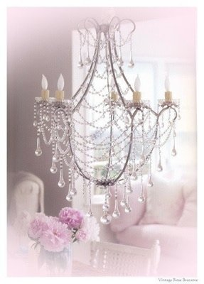 Shabby chic candle chandelier foter shabby chic white chandelier aloadofball Gallery