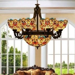 Tiffany Stained Glass Chandelier Foter