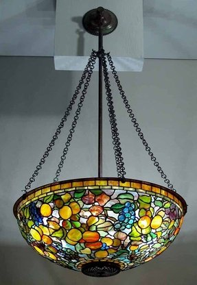 Tiffany style renaissance 2 lights ceiling hanging pendant lamp 18