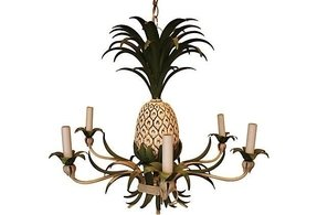 Tole painted chandelier 11