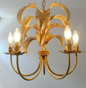 Palm tree chandelier foter very unique vintage italian gilt metal palm tree chandelier aloadofball Images