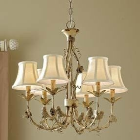 Bird chandelier foter vintage cream bird chandelier 6 light aloadofball Gallery